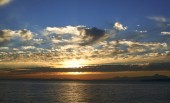 Sunset over Puget Sound — Stock Photo