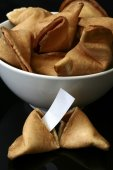 Bowl of fortune cookies — Stock Photo