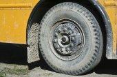 School bus wheel — Stok fotoğraf
