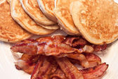 Pancakes and Bacon — Stock Photo