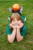 Junge fußballspieler — Stockfoto