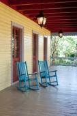 Two empty rocking chairs — Stock Photo