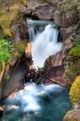 Avalanche Creek Falls — Stock Photo