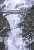Multnomah Falls Frozen — Stock Photo