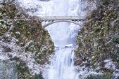 Multnomah Falls Frozen — Stok fotoğraf