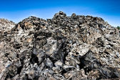 Big pile of obsidian — Stock Photo