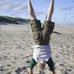 Beach Handstand — Stock Photo #57149269