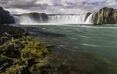 Godafoss, a beautiful waterfall — Stock Photo