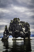 Hvitserkur, the troll rock — Stock Photo