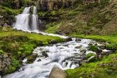 Dynjandi,在冰岛的瀑布 — 图库照片