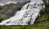 Dynjandi, ett vattenfall på Island — Stockfoto