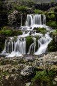 Dynjandi, uma cachoeira na Islândia — Fotografia Stock