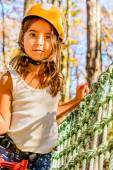 Cute little girl in Adventure Park — Stock fotografie