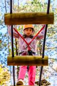 Little girl in the Adventure Park — Stock Photo