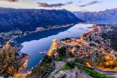 Old town of Kotor by night, Montenegro — Stock Photo