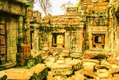 Old ruins in Angkor Wat temple, Cambodia — Stock Photo
