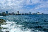Havana,Cuba by Malecon street — Stock Photo