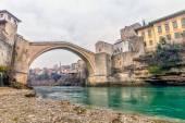 старый мост в мостаре, босния и герцеговина — Стоковое фото