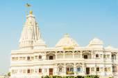 Prem Mandir, temple of love in Vrindavan, India — Stock Photo