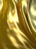 Abstract golden fabric for luxury background — Stock Photo