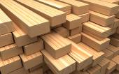 Closeup wooden boards. Illustration about construction materials — Stock Photo