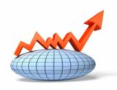 Global economic chart. Finance 3d illustration — Stock Photo
