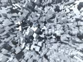 Abstract cubes background, 3d illustration — Stock Photo