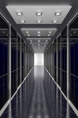 Modern black  hallway. Architecture 3d illustration — Stock Photo