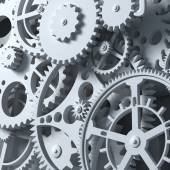 Fantasy clockwork or part of any machine. Closeup gears. — Stock Photo