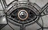 Robot's eye. Fantasy high technology 3d illustration — Stock Photo