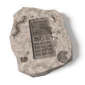 Push-button Mobile Phone already history. Conceptual 3d illustration — Stockfoto