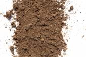 Dirt and soil on white background — Stock Photo