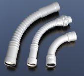 Plastic hoses with connectors. Industrial illustration — Stock Photo