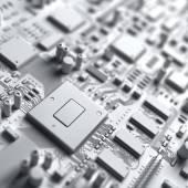 Fantasy kretskort. Konsten att elektronik teknik — Stockfoto