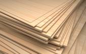 Set of plywood, industrial illustration — Stock Photo
