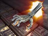 Hacking bank vault. Conceptual 3d illustration — Stock Photo