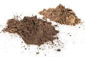 Soil on white background — Stock Photo