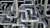 Fantasy pipeline at a chemical plant. Industrial  illustration. — Foto Stock