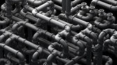 Fantasy pipeline at a chemical plant. Industrial  illustration. — Stock Photo