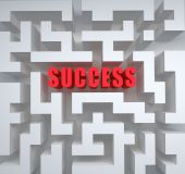 Success in maze of opportunity. Conceptual  illustration — Stock Photo