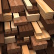 Closeup wooden boards. Illustration about construction materials — Stock Photo #66537627