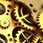 Fantasy golden clockwork. Industrial background — Stock Photo #68245563