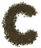 Alphabet of soil. Block capitals. Letter C — Stock Photo