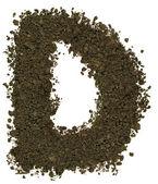 Alphabet of soil. Block capitals. Letter D — Stock Photo