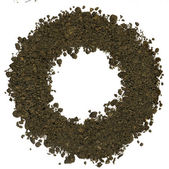 Alphabet of soil. Block capitals. Letter O — Stock Photo