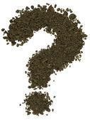 Alphabet of soil. Block capitals. Question mark — Stockfoto