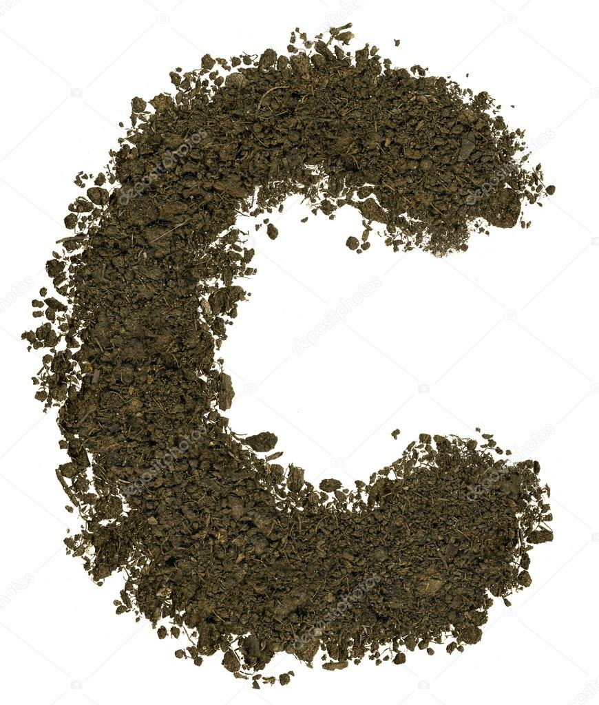 Alphabet of soil block capitals letter c stock photo for Soil 8 letters