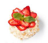 Fresh Strawberry Cheesecake — Stock Photo