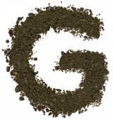 Alphabet of soil. Block capitals. Letter G — Stock Photo