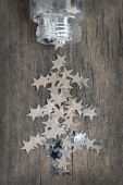 Silver stars for christmas — Stock Photo